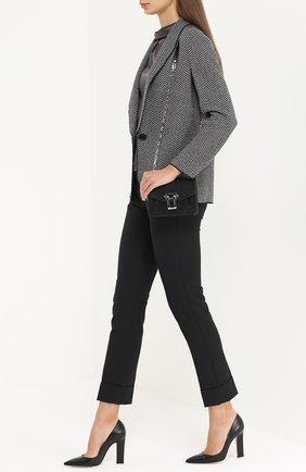 Кожаные туфли с зауженным мысом Gianvito Rossi черные | Фото №2