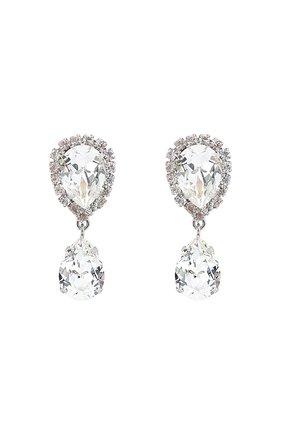 Серьги-клипсы с кристаллами Swarovski Dolce & Gabbana серебряные | Фото №1