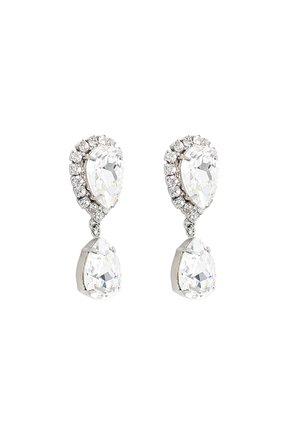Серьги-клипсы с кристаллами Swarovski Dolce & Gabbana серебряные | Фото №2
