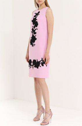 Босоножки со стразами на шпильке Dolce & Gabbana розовые | Фото №2