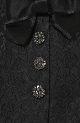 Мини-юбка с фактурной отделкой и бантами Dolce & Gabbana черная | Фото №5