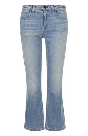 Укороченные расклешенные джинсы Denim X Alexander Wang голубые | Фото №1