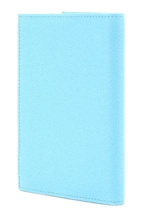 Кожаная обложка для документов Dolce & Gabbana голубого цвета | Фото №2