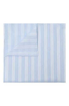 Мужской хлопковый платок в полоску SIMONNOT-GODARD светло-голубого цвета, арт. TRIAN0N | Фото 1