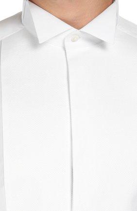 Хлопковая сорочка под смокинг с воротником бабочка | Фото №5