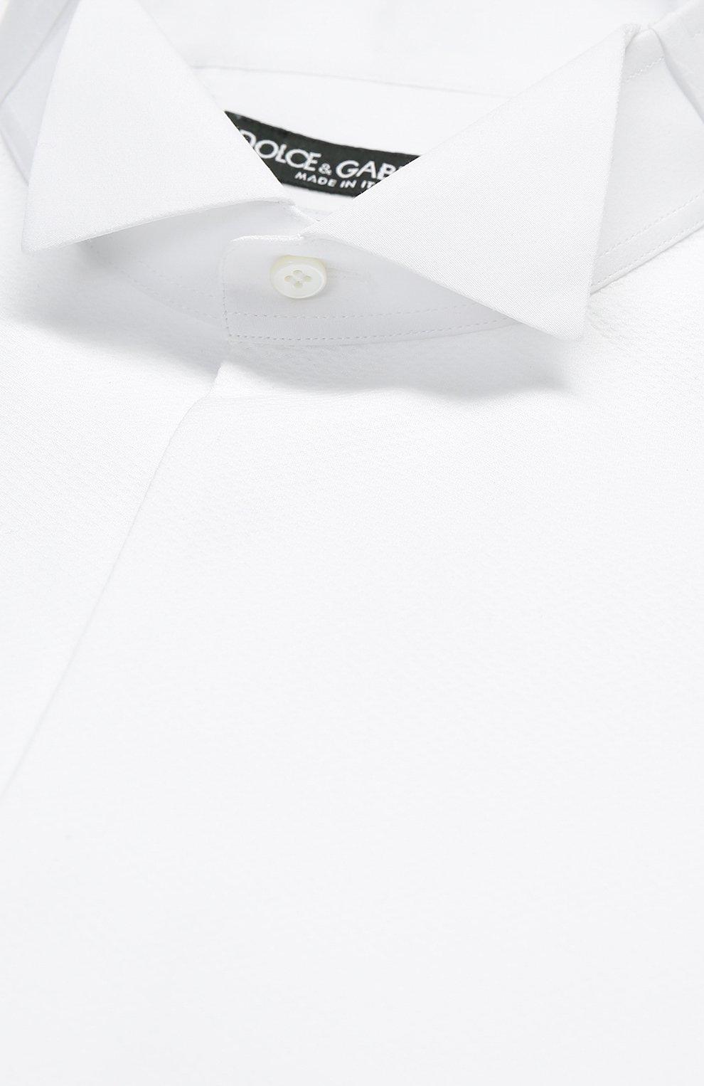 Хлопковая сорочка под смокинг с воротником бабочка | Фото №6