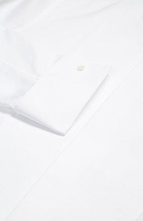 Хлопковая сорочка под смокинг с воротником бабочка | Фото №7