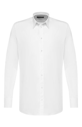 Хлопковая сорочка Dolce & Gabbana белая | Фото №1