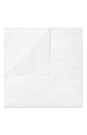 Мужской хлопковый платок в полоску SIMONNOT-GODARD белого цвета, арт. TRIAN0N | Фото 1