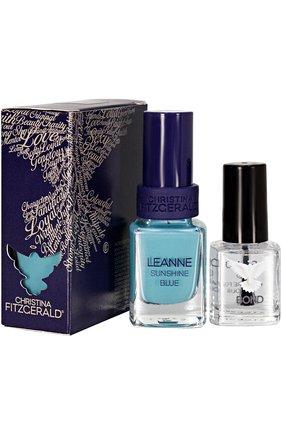 "Лак для ногтей ""Сияющий голубой"" LEANNE Sunshine Blue + BOND   Фото №1"
