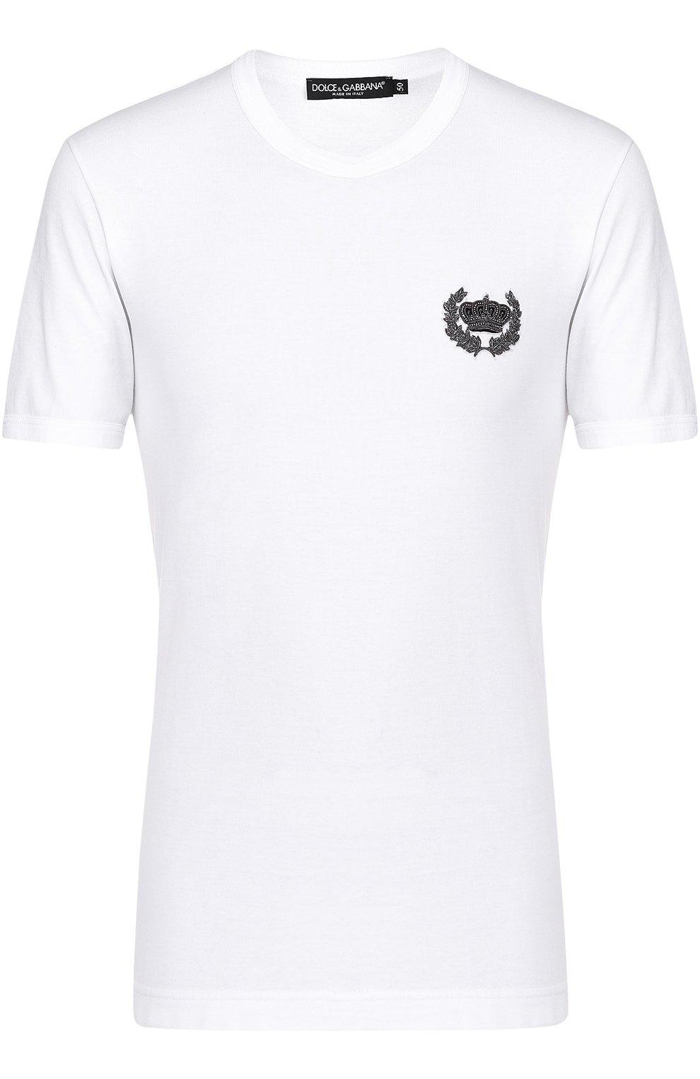 Хлопковая футболка с вышивкой | Фото №1