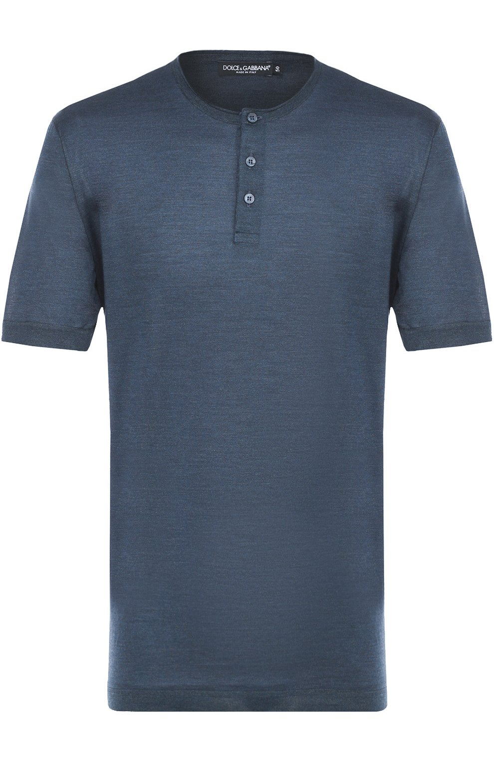 Хлопковая футболка хенли   Фото №1
