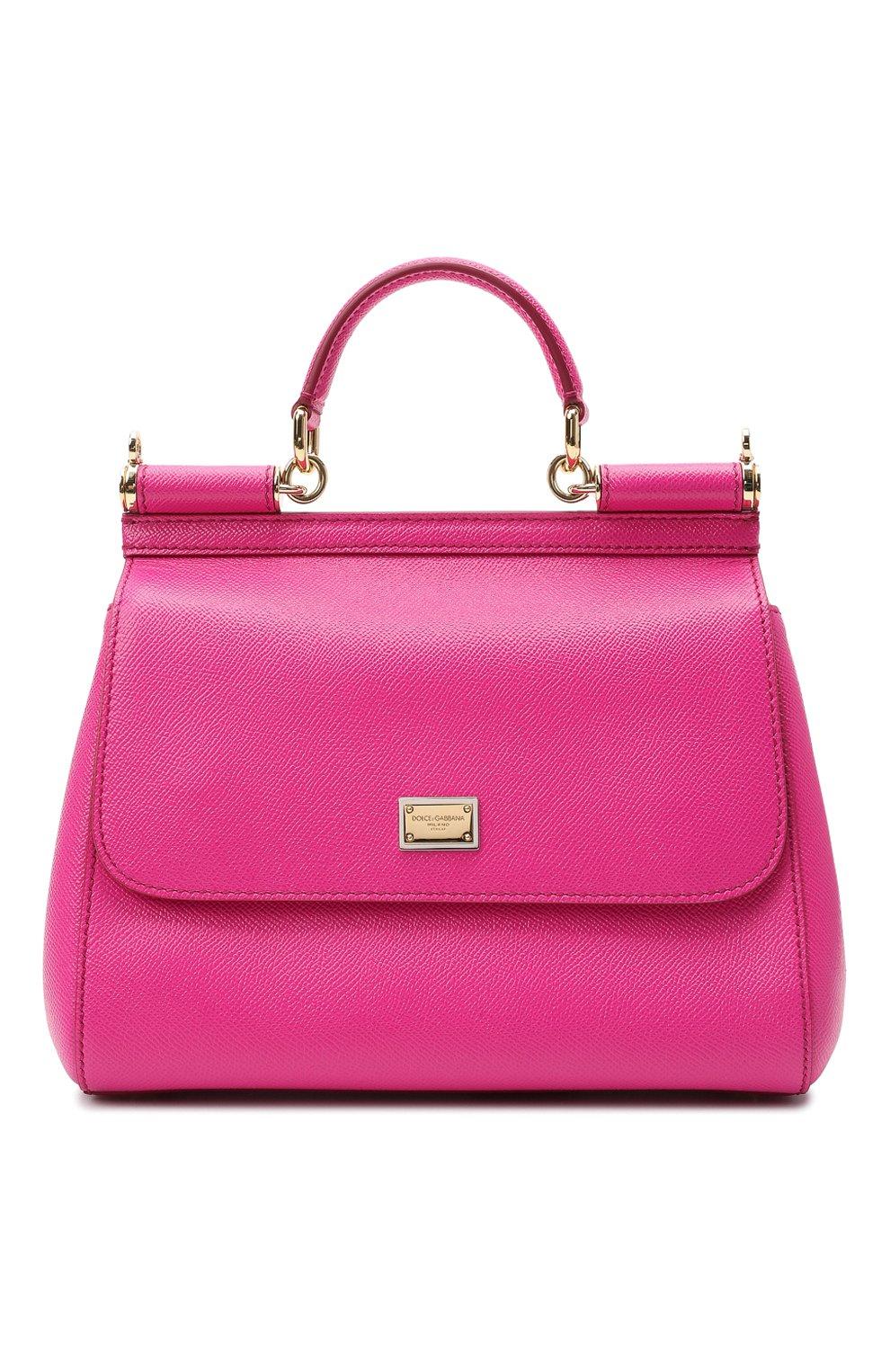 23b1eaada742 Женская сумка sicily medium DOLCE & GABBANA фуксия цвета — купить за ...