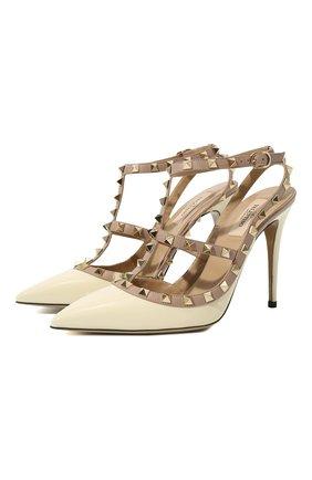 Лаковые туфли Valentino Garavani Rockstud с ремешками на шпильке | Фото №1