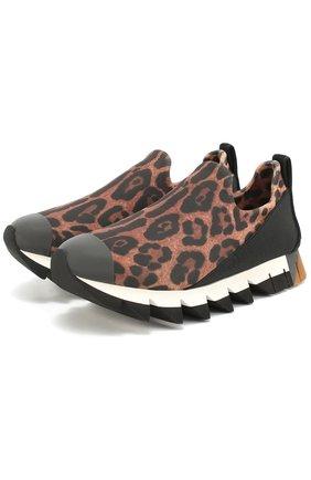 Комбинированные кроссовки Ibiza с принтом под леопарда   Фото №1