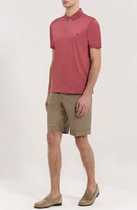 Мужские замшевые пенни-лоферы BRIONI бежевого цвета, арт. QFC2/P3711 | Фото 2