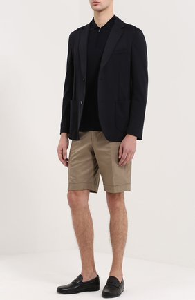 Мужские кожаные пенни-лоферы BRIONI черного цвета, арт. QFC2/P5719 | Фото 2