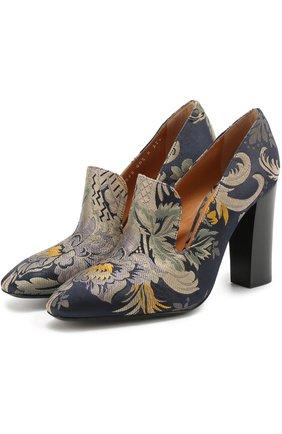 Текстильные туфли с цветочным принтом   Фото №1