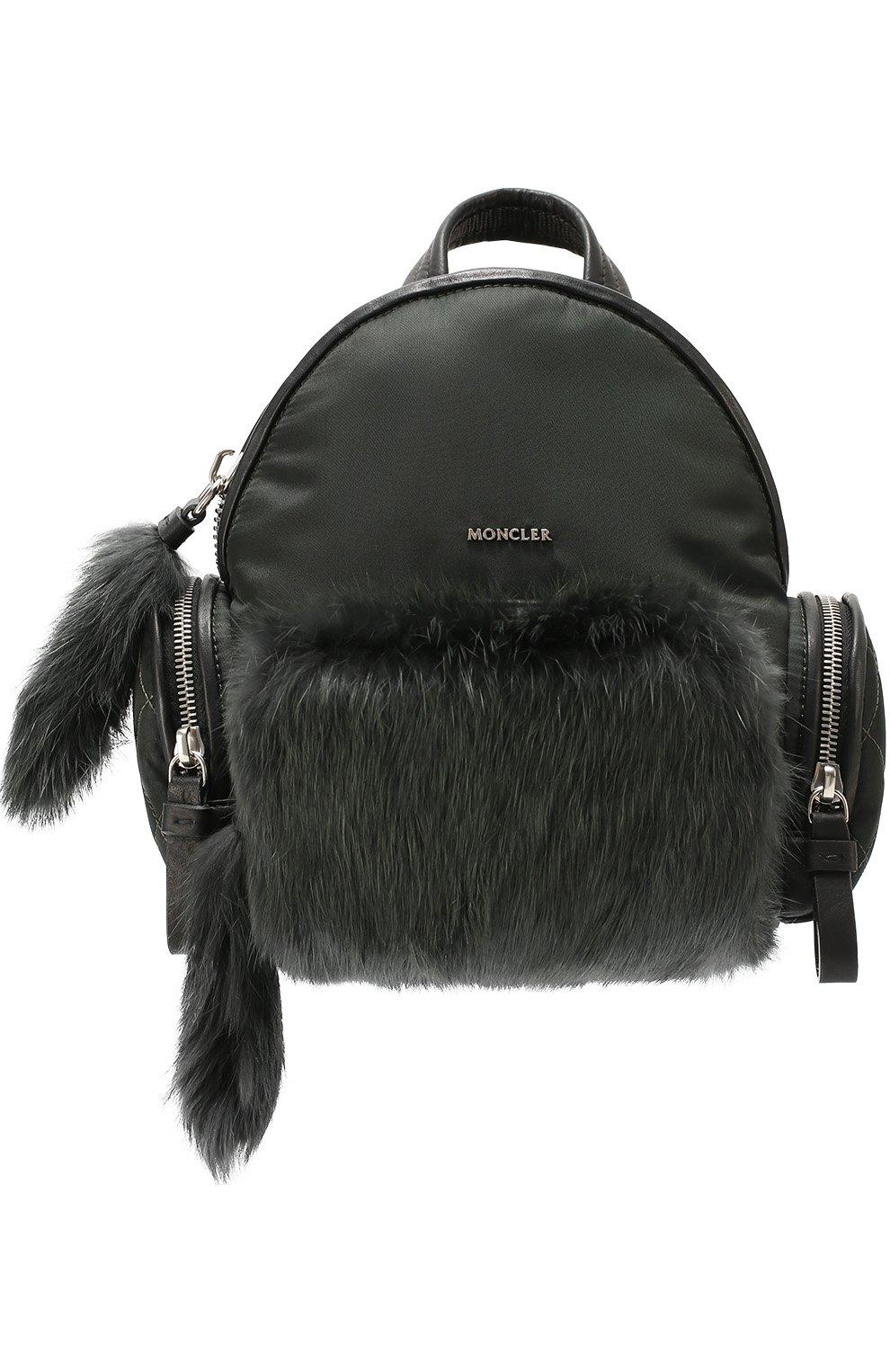 Рюкзак с отделкой из меха | Фото №1