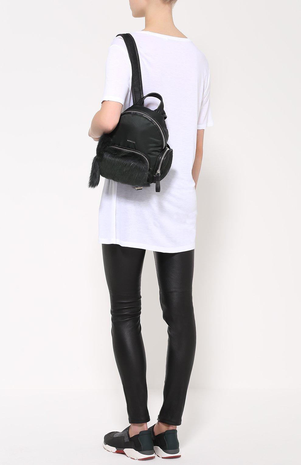 Рюкзак с отделкой из меха | Фото №2