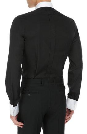 Хлопковая сорочка с вышивкой и контрастными манжетами | Фото №4