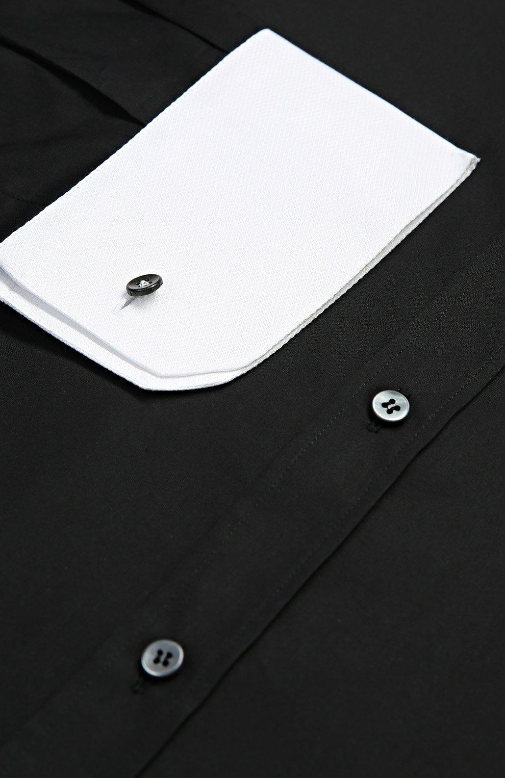 Хлопковая сорочка с вышивкой и контрастными манжетами | Фото №6