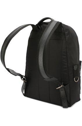Рюкзак Vulcano с нашивками Dolce & Gabbana черный | Фото №3