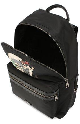 Рюкзак Vulcano с нашивками Dolce & Gabbana черный | Фото №4
