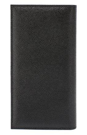 Кожаное портмоне с отделениями для кредитный карт Dolce & Gabbana черного цвета | Фото №2