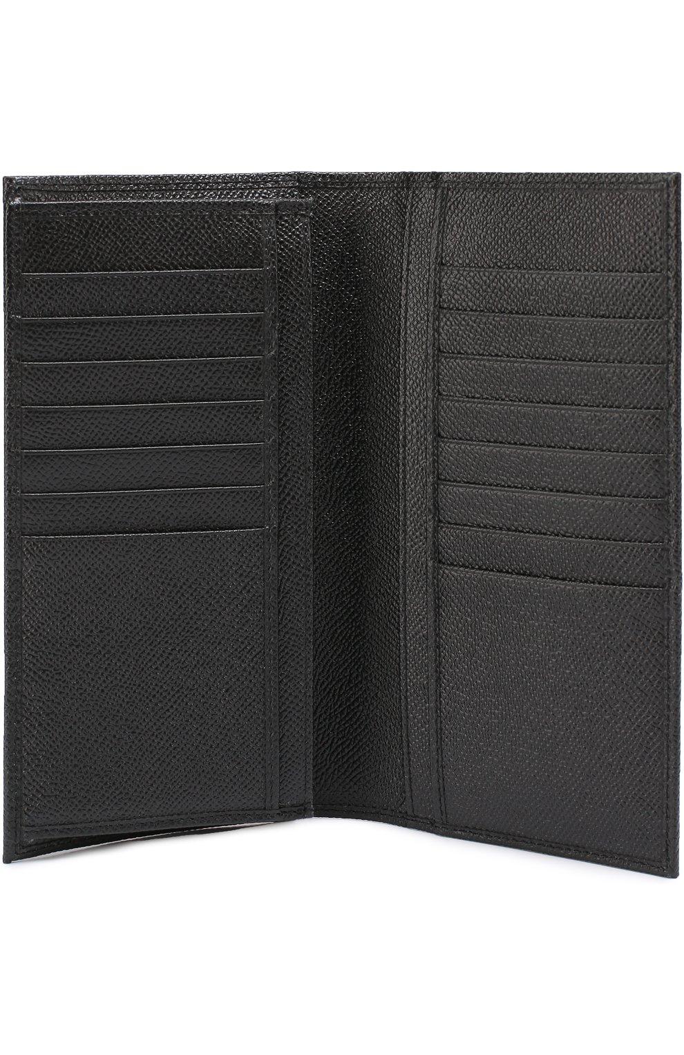 Кожаное портмоне с отделениями для кредитный карт Dolce & Gabbana черного цвета | Фото №3