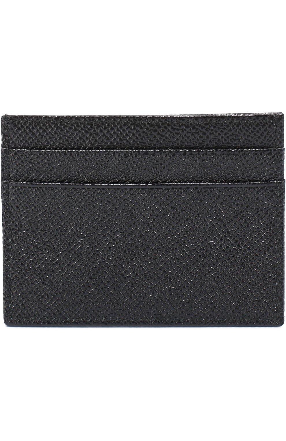 Кожаный футляр для кредитных карт Dolce & Gabbana черного цвета | Фото №2
