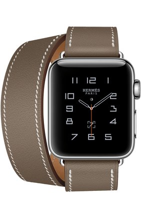 Смарт-часы Apple Watch Hermès Series 2 38mm Stainless Steel Case с кожаным ремешком Double Tour цвета Étoupe   Фото №2