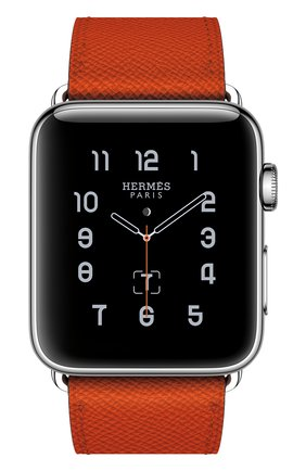 Смарт-часы Apple Watch Hermès Series 2 42mm Stainless Steel Case с кожаным ремешком Simple Tour цвета Feu | Фото №2