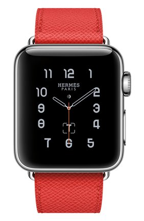 Смарт-часы Apple Watch Hermès Series 2 38mm Stainless Steel Case с кожаным ремешком Simple Tour цвета Rose Jaipur | Фото №2