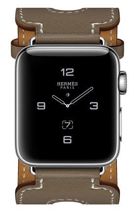 Смарт-часы Apple Watch Hermès Series 2 38mm Stainless Steel Case с кожаным ремешком Manchette цвета Étoupe с двойной пряжкой | Фото №2