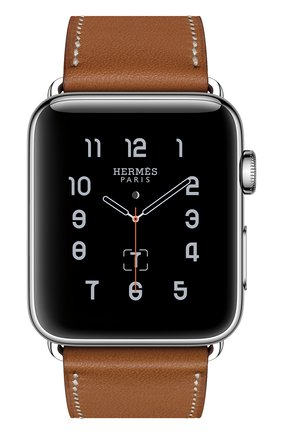 Смарт-часы Apple Watch Hermès Series 2 42mm Stainless Steel Case с кожаным ремешком Simple Tour цвета Fauve | Фото №2