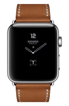 Смарт-часы Apple Watch Hermès Series 2 42mm Stainless Steel Case с кожаным ремешком Simple Tour цвета Fauve с раскладывающейся застёжкой | Фото №2