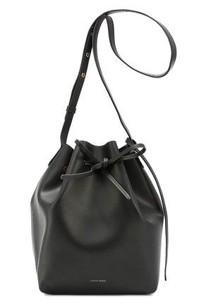 Сумка Bucket с косметичкой Mansur Gavriel черная цвета   Фото №1