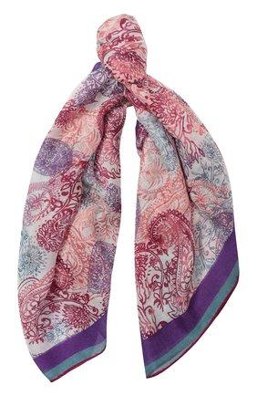 Женский платок с принтом из смеси кашемира и шелка LORO PIANA фиолетового цвета, арт. FAG0679 | Фото 1