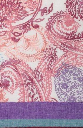 Женский платок с принтом из смеси кашемира и шелка LORO PIANA фиолетового цвета, арт. FAG0679 | Фото 2