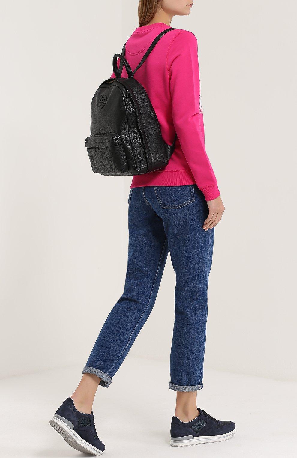 Кожаный рюкзак с логотипом | Фото №2