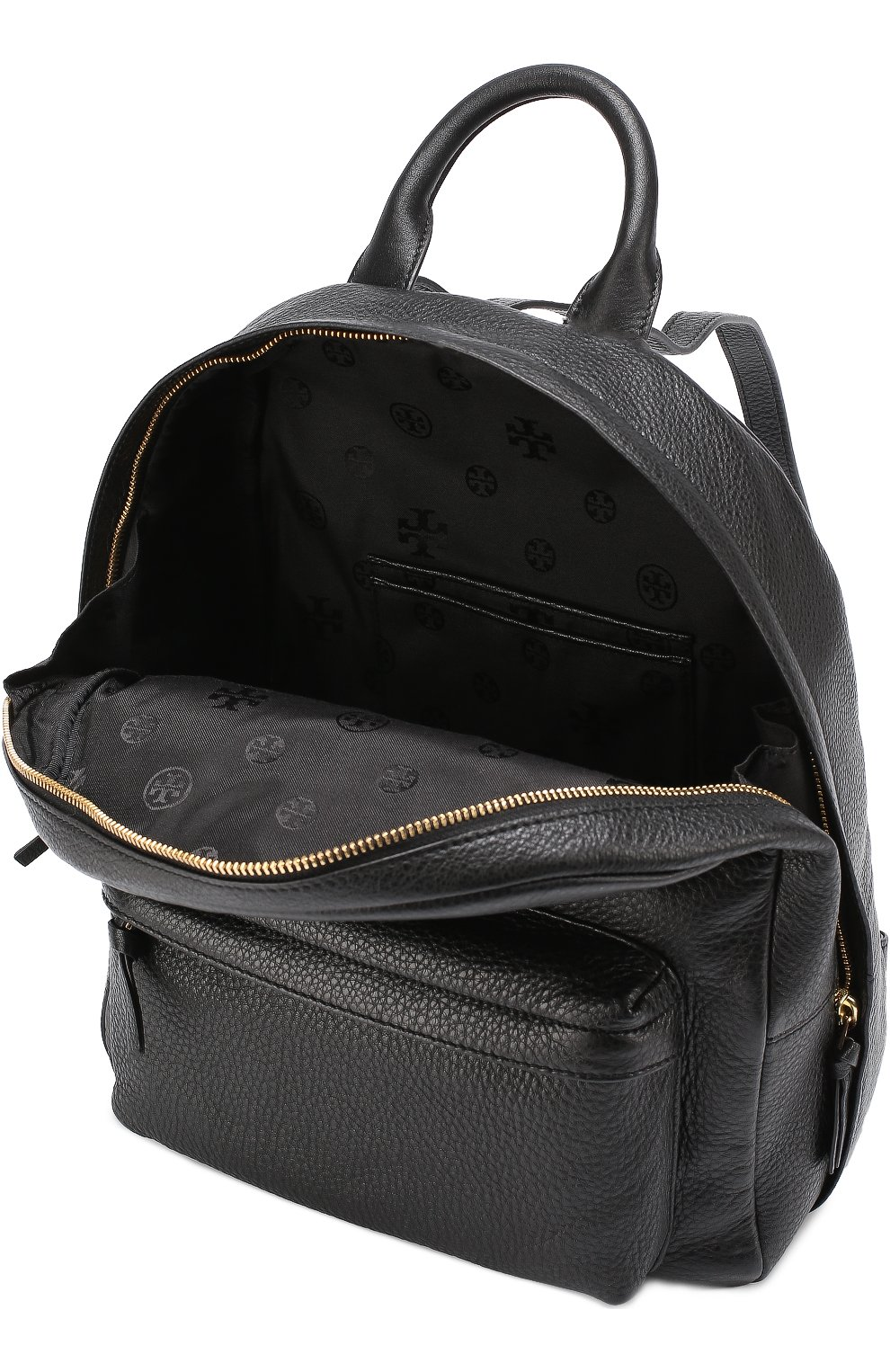 Кожаный рюкзак с логотипом | Фото №4