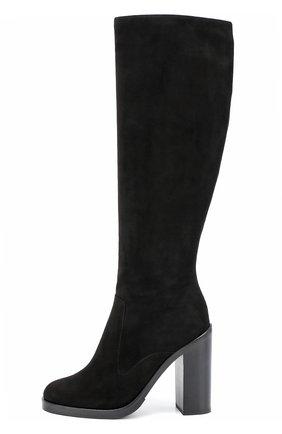 Замшевые сапоги Lawrence на устойчивом каблуке | Фото №2