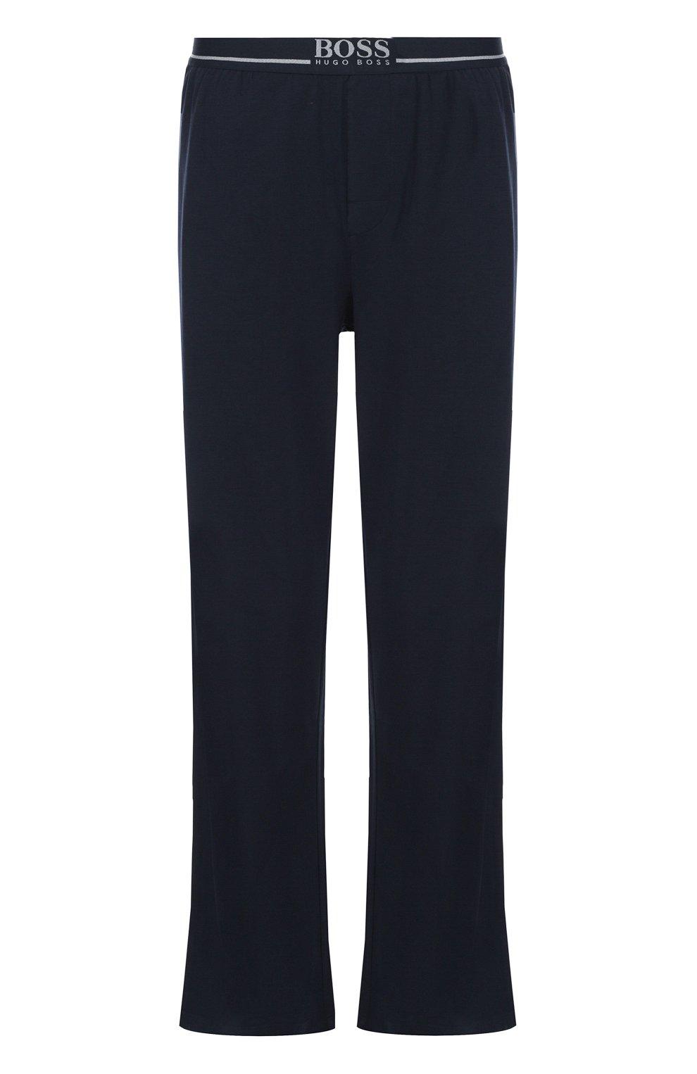 Хлопковые домашние брюки свободного кроя | Фото №1