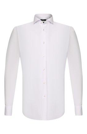 Мужская хлопковая сорочка BOSS белого цвета, арт. 50260064 | Фото 1