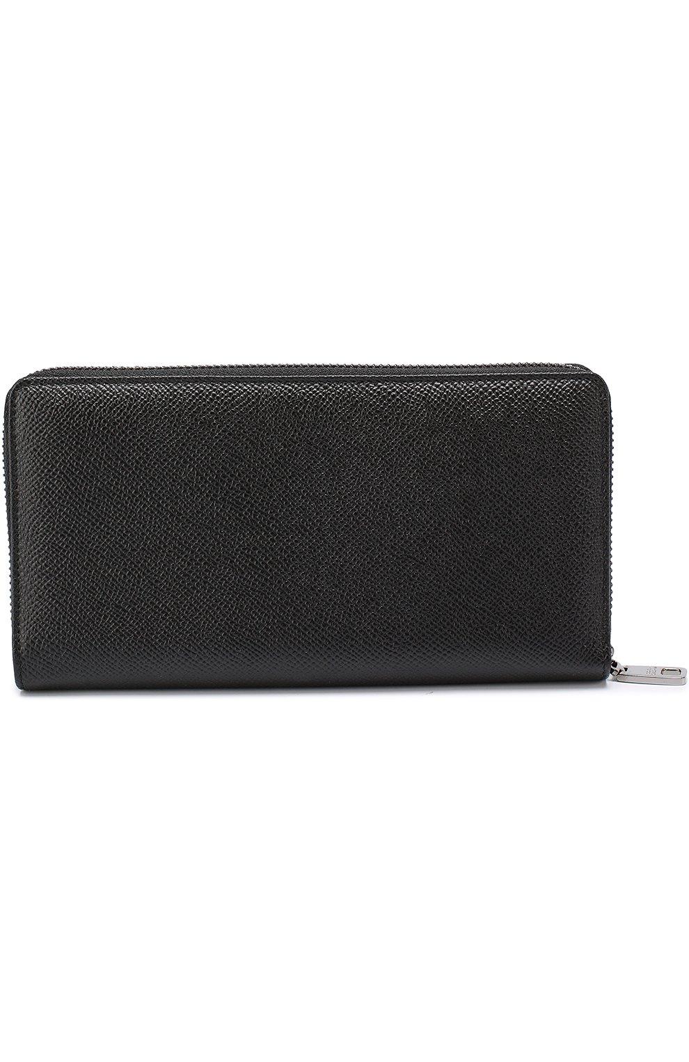Кожаное портмоне Dolce & Gabbana черного цвета | Фото №2