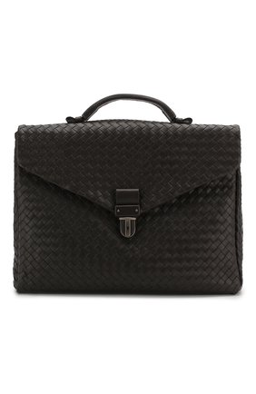 Мужской кожаный портфель BOTTEGA VENETA темно-коричневого цвета, арт. 113095/V4651   Фото 1