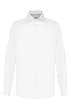Мужская хлопковая сорочка с воротником акула ETON белого цвета, арт. 3100 79311 | Фото 1