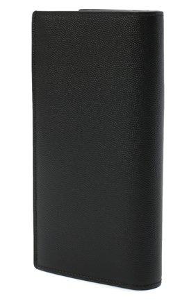 Мужской кожаное портмоне SAINT LAURENT черного цвета, арт. 396308/BTY0N   Фото 2
