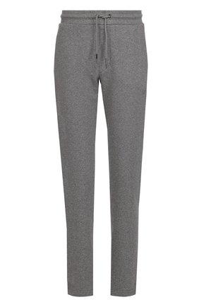 Хлопковые брюки прямого кроя Armani Jeans черные | Фото №1